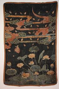 Edo tsutsugaki textile of very valuable museum class