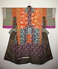 Edo yosegire Patchwork itajime katazome silk kimono