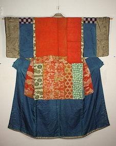 Japanese Edo era silk of the patchwork yosegire jyuban