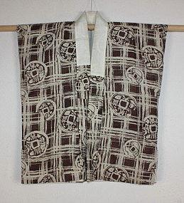 Edo silk tsumugi katazome sodenashi hanjyuban