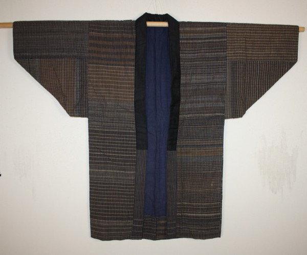 Japanese meiji zanshi weave noragi hanten textile
