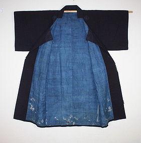 Indigo dye & tsutsugak jyofu samurai dotyugi long coat