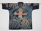 Edo. Tsutsugaki. Fire fighter clothes. Cotton. Slightly thick. Hand-sp