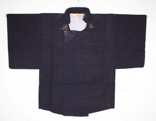 Japanese Antique dark Indigo dye cotton and sarasa samurai dochugi