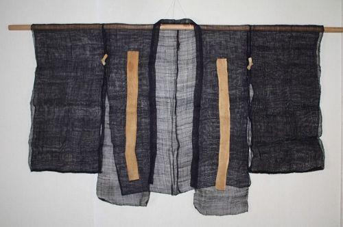 Japanese antique Indigo dye hemp play drama  costumes