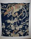 Japanese antique uchishiki silk hand yuzen dye tsutsugaki  Edo period