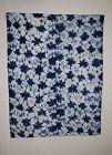 Japanese antique tekumo-shibori (Tie-dye) indigo dye cotton rug