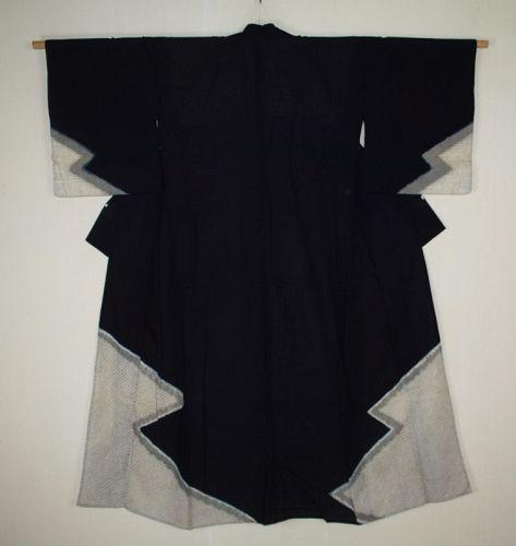 Japanese antiqque shibri Indigo dyed cotton at the end of  Edo period