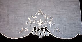 Tea Towel with Cutwork and Fine Embroidery