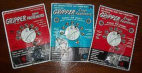 Vintage New Gripper Snap Fasteners