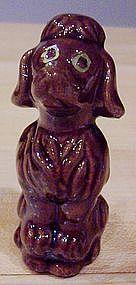 Ceramic Brown Poodle Figurine