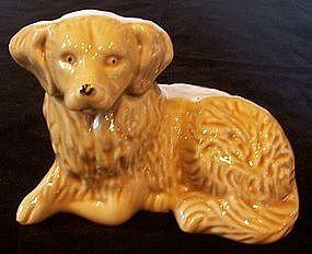 Ceramic Yellow Labrador or Golden Retriever Dog, Brazil
