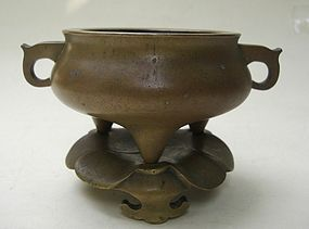 Chinese Bronze Censer, Qing Dynasty