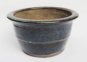 Jun Type Glazed Pot, Qing Dynasty