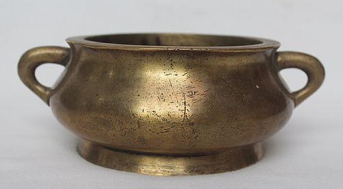 Chinese Incense Burner Bronze Censer, Qing Dynasty