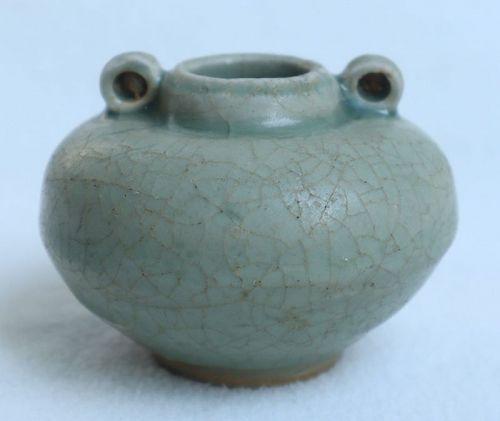 Chinese Yuan Dynasty Longquan Celadon Jarlet