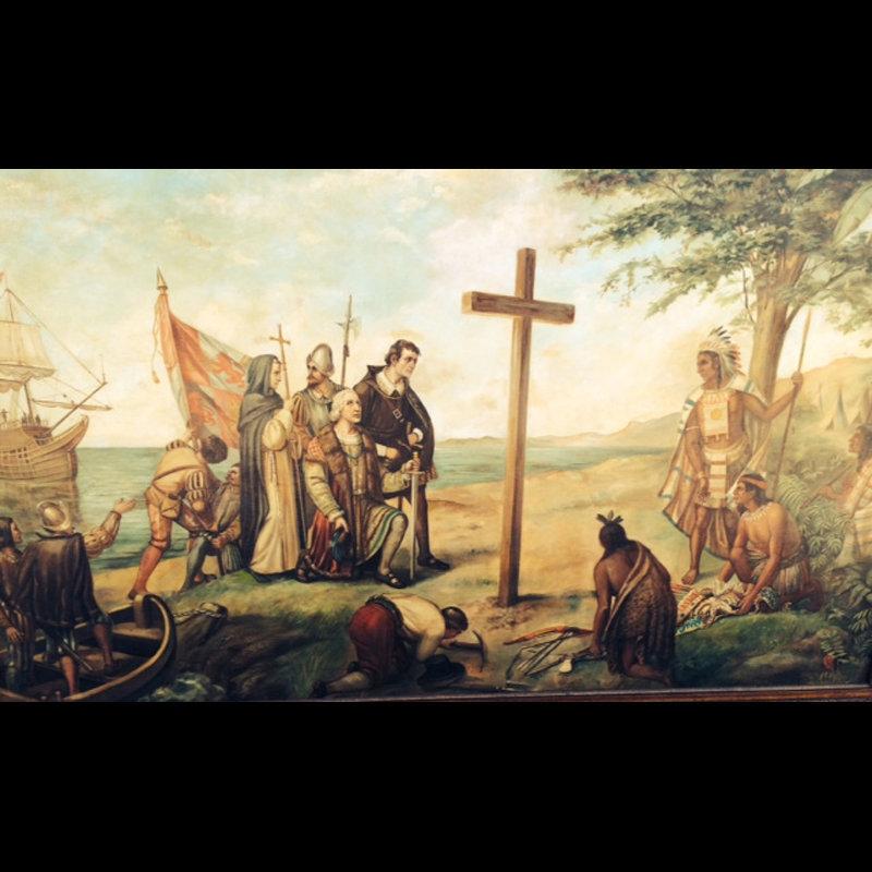 Frank Herbert Zeitler Painting, Columbus