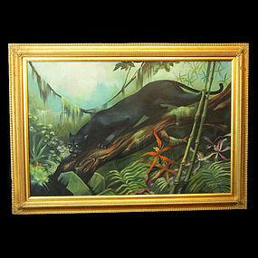 Illusive Florida Black Panther Painting