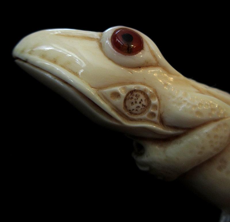 Ivory Frog Walking Stick, 1894