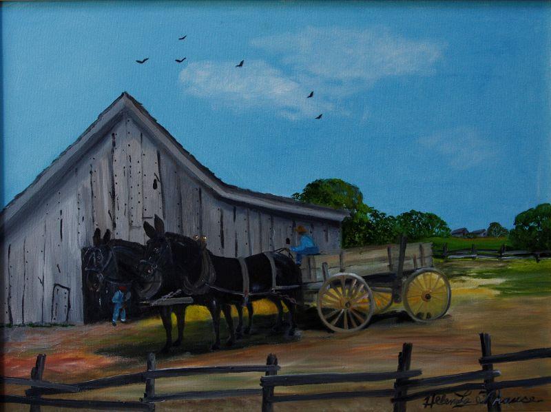Mule Team by Helen LaFrance