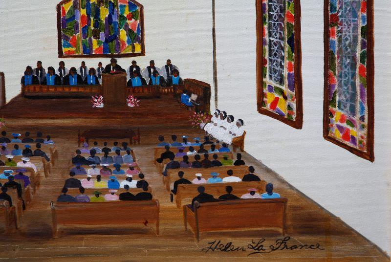Church Interior by Helen LaFrance