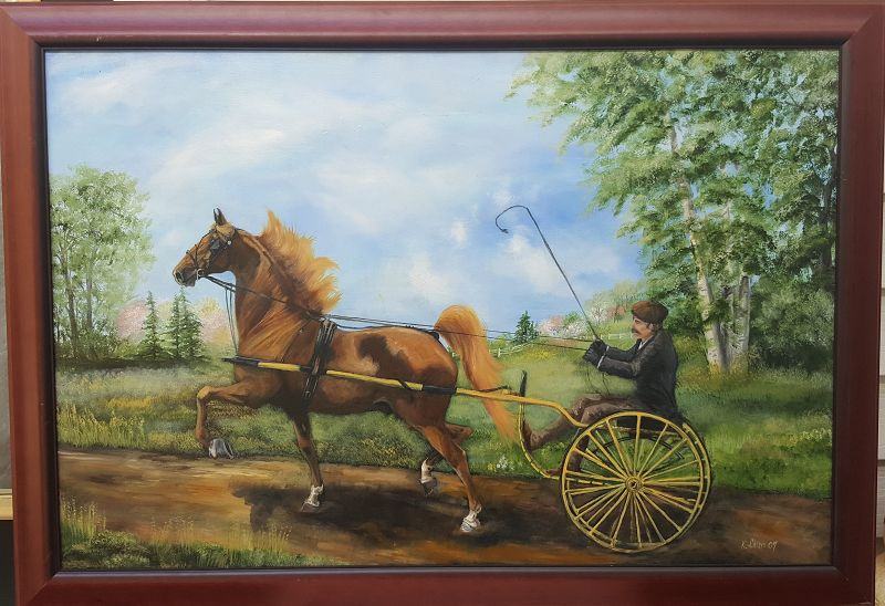 Horse and Buggy Trotting by Kathleen Chism