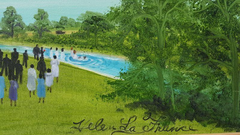 River Baptism by Helen LaFrance