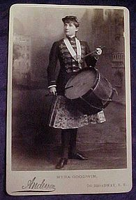 2 Myra Goodwin photo post cards 1880's stage star