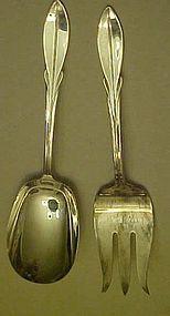 Wm Rogers El California salad fork & spoon set
