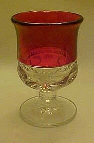 """Kings crown ruby flashed wine glass 4"""" Tiffin"""