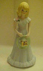 Enesco Growing up Birthday girl #14 blond figurine