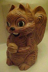Vintage squirrel and nut  ceramic cookie jar