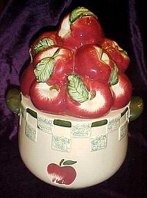 Basket of apples ceramic cookie jar  by BHP