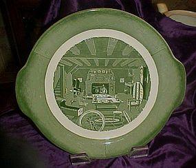 "Royal Colonial Homestead  tab handle cake plate 11 5/8"""