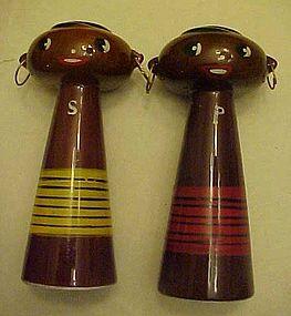 Del Coronado Nasco tall Black Americana Native shakers
