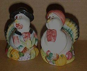 Thanksgiving turkeys salt and pepper shakers