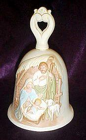 Home Interiors porcelain Nativity bell HOMCO