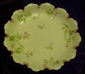 Schleiger Haviland Limoges petal bowl with florals