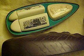 Vintage Avon Whale organizer gift set