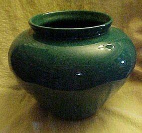 Large  forest green Haeger pottery vase #4328