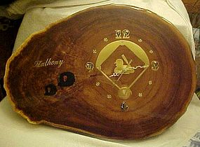 San Francisco Giants burl wood clock  ANTHONY