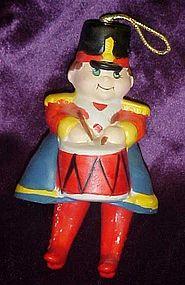 Little Drummer porcelain Christmas ornament
