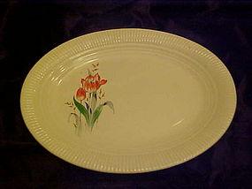 Salem China Victory Rust Tulip oval platter