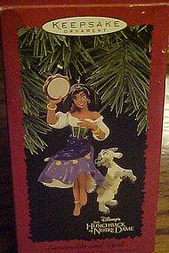 Hallmark Disney Esmeralda and Djali keepsake ornament