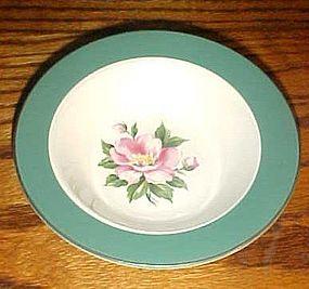 Homer Laughlin Century Green rimmed soup bowl