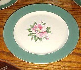 """Homer Laughlin Century Green Pie dessert plate 7 1/4"""""""