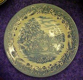 Churchill England blue and white dinner plate  harvest