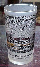 Vintage California Mission San Juan Bautista glass