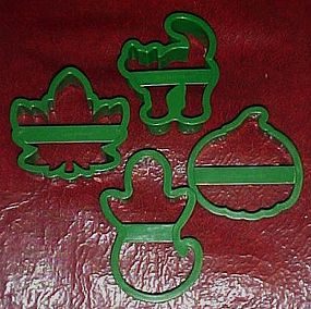 Princess House Holiday shapes cookie cutters