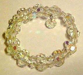 Aurora Borealis crystal beads bracelet
